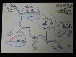 おとなたちのずる休み「那珂川カヌー川下り旅」は、こうした日々だったのだ。(絵:Ma-Ya)
