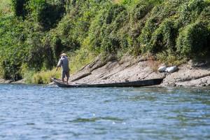 那珂川には、現役の川舟がいまもある。鮎漁をいとなむ川漁師がわずかに残っているのだ。(写真:山田真人)