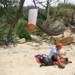 瀬戸内海自転車旅でも、ヘネシーハンモックのお世話になった。