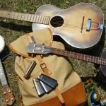 ギターは、旅の精神安定剤