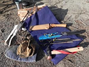 そして、縁の下の力持ちは、焚火道具袋(テンマク)。 なるほど。テンマクは、焚き火が好きだな!