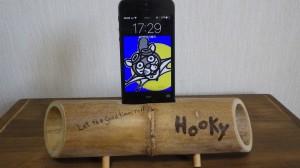 自慢のiPhone用バンブースピーカー。