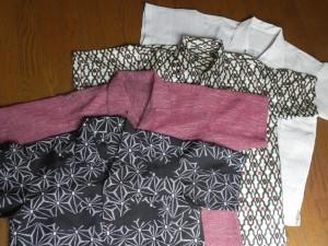 去年と今年で作った十枚の着物再生アロハシャツ。