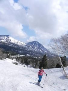 春の雪山は、美人と行くに限る!