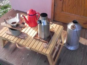 ケリーケトル『孫』とコーヒーセットをコットンのバックパックへ放り込んで、「冬の低山アンプラグド旅」へ出かけようかな。