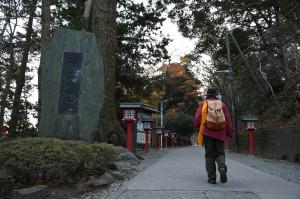 高尾山山頂へ向かって、ダイヤモンドを探しに歩く。