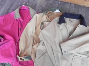 新旧フィールドコート。左ふたつがL.L.Bean。右はフィルソン。