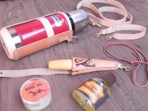 最後に保革油を塗ればできあがり。お気に入り道具が、またまた増える。